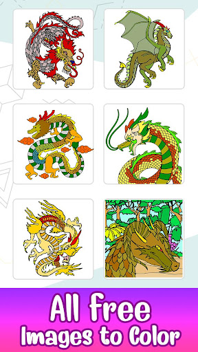 Dragons Color by Number screenshot 1