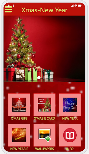 Christmas & New Year Greetings Ecard and GIF capture d ecran 4