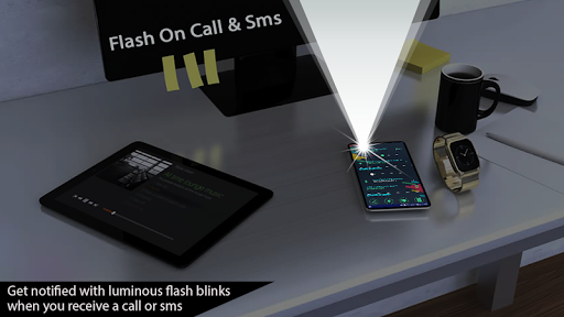 Automatic Flash on Call and SMS, LED Torch, Flash screenshot 3