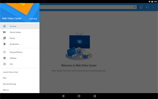 Web Video Cast | Browser to TV/Chromecast/Roku/+ screenshot 1