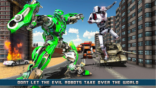 Flying Helicopter Robot Transform War Robot Hero screenshot 1