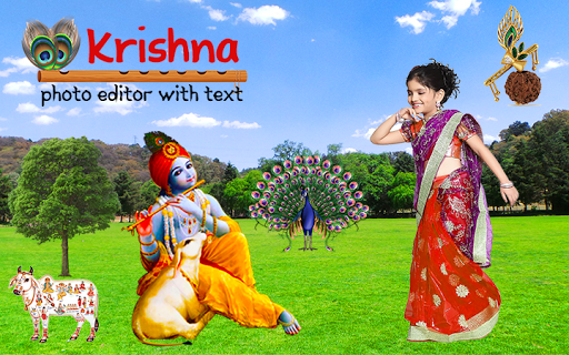Krishna Photo Editor with Text screenshot 1