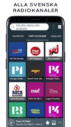 Radio Sverige - Online Radio and FM Radio screenshot 1