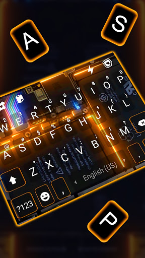 Tech Circuit 3D Keyboard Background screenshot 2
