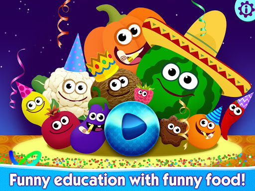 Funny Food educational games for kids toddlers 屏幕截图 15