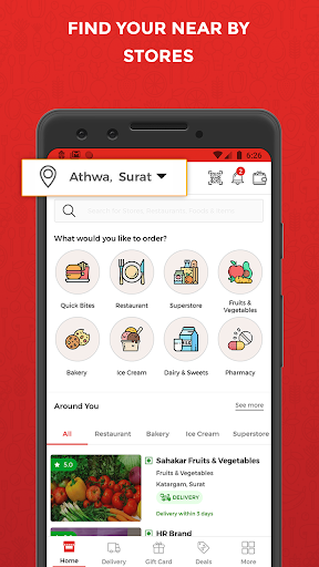 Wibrate-Get Delivery of food & groceries for free screenshot 2