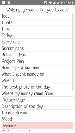 My creative diary screenshot 2