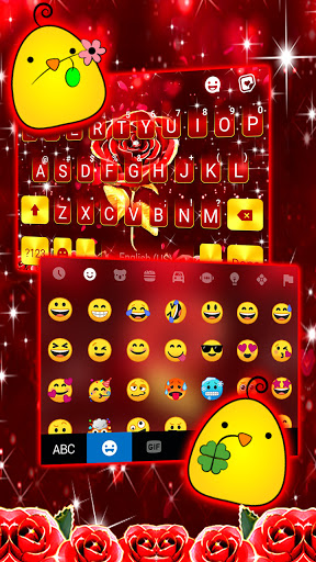 Red Lux Rose Keyboard Background screenshot 3