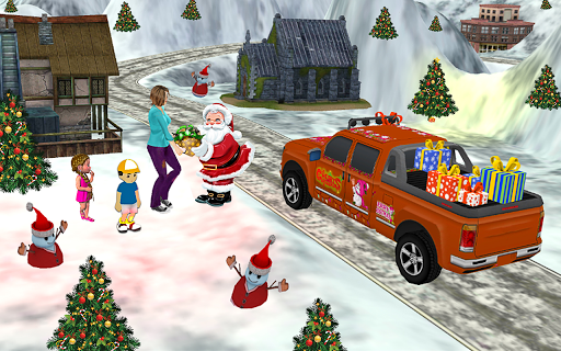 Santa Claus Car Driving 3d - New Christmas Games screenshot 8