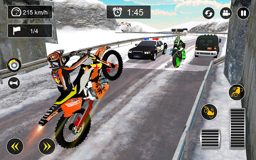 Snow Mountain Bike Racing 2019 screenshot 4