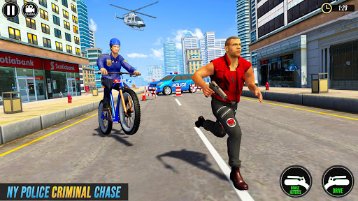 US Police BMX Bicycle Street Gangster Chase screenshot 1