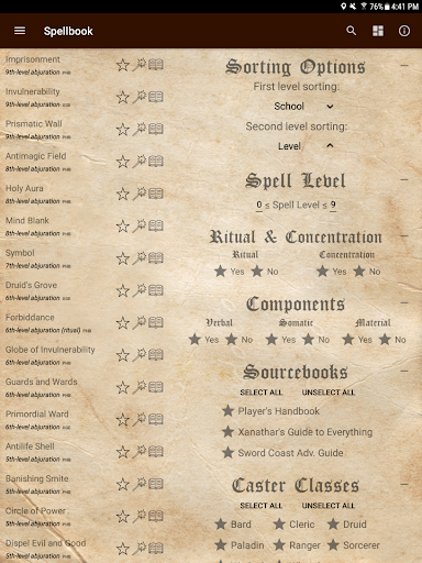 D&D Spellbook 5e screenshot 11