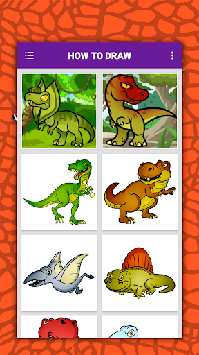 How to draw cute dinosaurs step by step, lessons screenshot 2