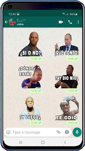 Memes with Phrases Stickers Spanish, WAStickerApps screenshot 2