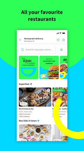 mjam - Delivery Service for food, groceries & more screenshot 2