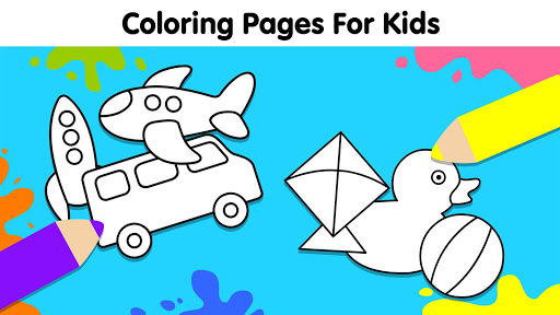 Coloring Games for Kids: Baby Drawing Book & Pages screenshot 1