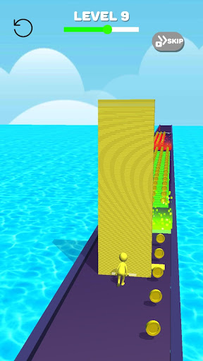 Tower Stack colors kick-Collect cubes tower run screenshot 1