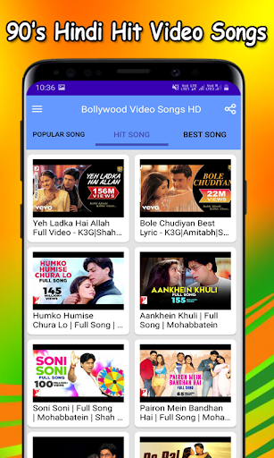 Bollywood Video Songs HD screenshot 2
