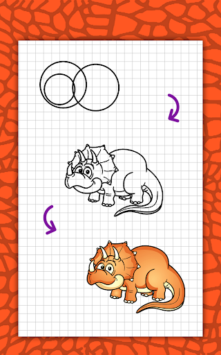 How to draw cute dinosaurs step by step, lessons screenshot 15