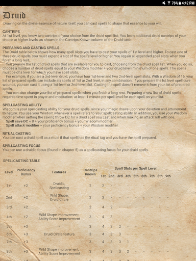 D&D Spellbook 5e screenshot 14