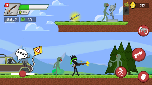 Stickman vs Zombies screenshot 1