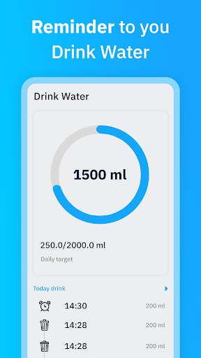 Aqualert : Water Drink Reminder screenshot 1