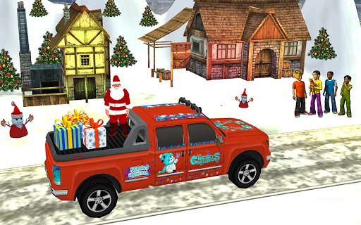 Santa Claus Car Driving 3d - New Christmas Games screenshot 2