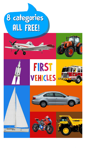 First Words for Baby: Vehicles screenshot 1