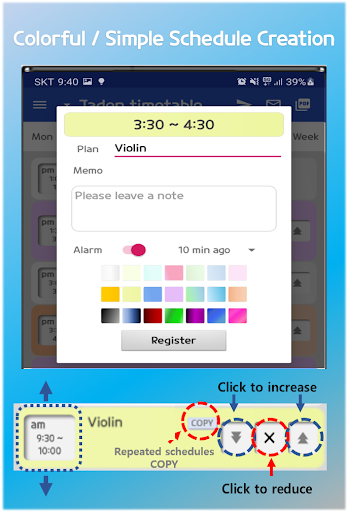 Daily Schedule - easy timetable, simple planner screenshot 8