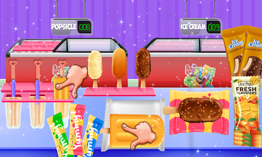 Ice Cream Popsicle Factory Snow Icy Cone Maker screenshot 1
