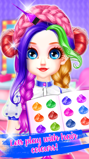 Little Princess Bella Girl Braid Hair Beauty Salon screenshot 1