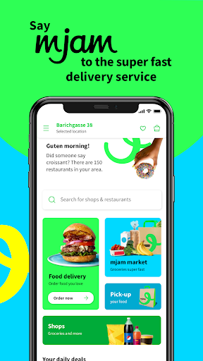 mjam - Delivery Service for food, groceries & more screenshot 1