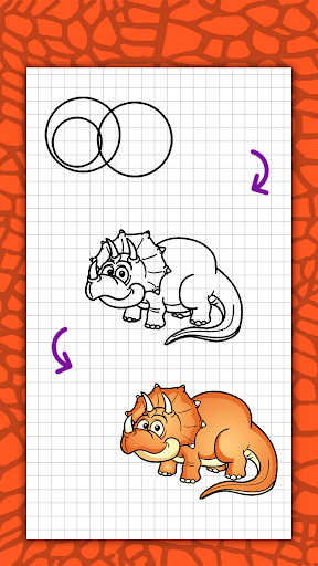 How to draw cute dinosaurs step by step, lessons screenshot 7