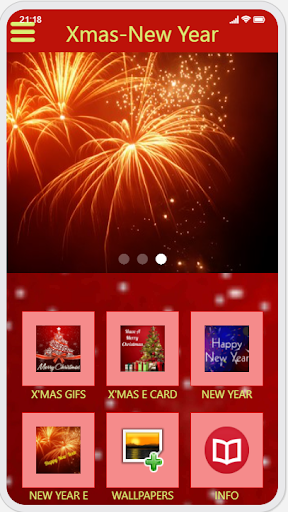 Christmas & New Year Greetings Ecard and GIF capture d ecran 3