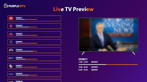 IPTV Smart Purple Player - No Ads screenshot 2