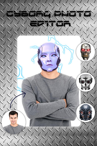 Cyborg Face Camera Photo Editor screenshot 3
