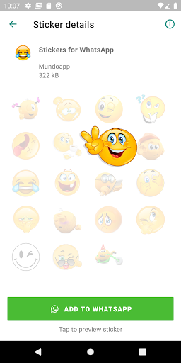 Animated stickers for whatsapp WAStickerapps screenshot 1