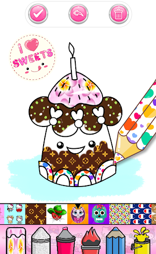 Cupcakes Coloring Book Pattern screenshot 7