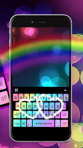 Rainbow Love Fonts Keyboard screenshot 2