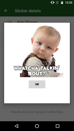 WAstickerApps Babies Funny Faces with Phrases screenshot 5
