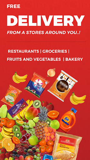 Wibrate-Get Delivery of food & groceries for free screenshot 1