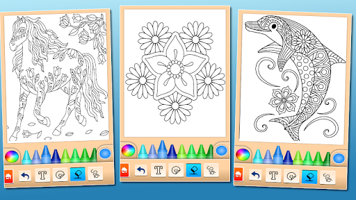 Coloring game for girls and women screenshot 7