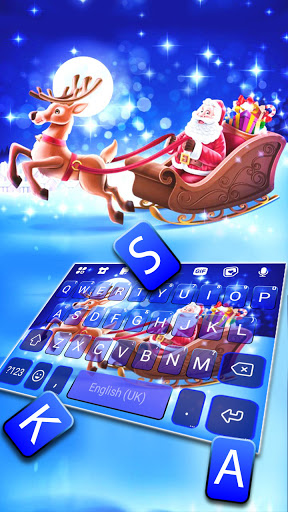 Santa Christmas Keyboard Background screenshot 2
