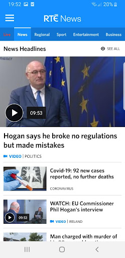 RTÉ News screenshot 1