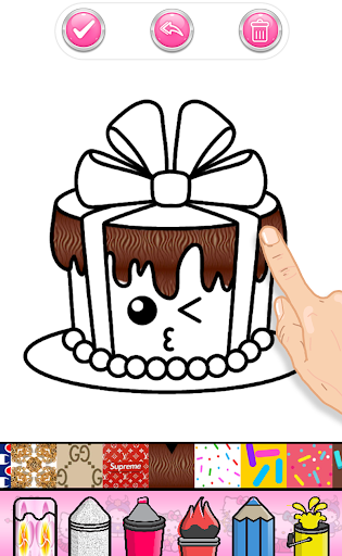 Cupcakes Coloring Book Pattern screenshot 8