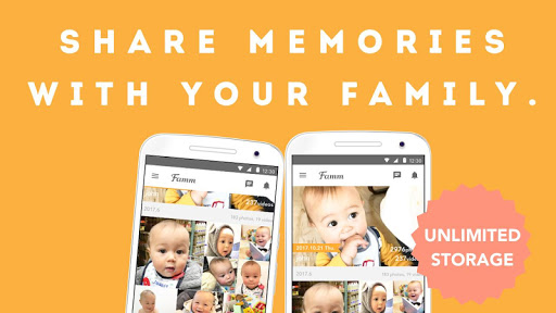 Famm - photo & video storage for baby and kids. screenshot 1