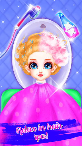 Little Princess Bella Girl Braid Hair Beauty Salon screenshot 6