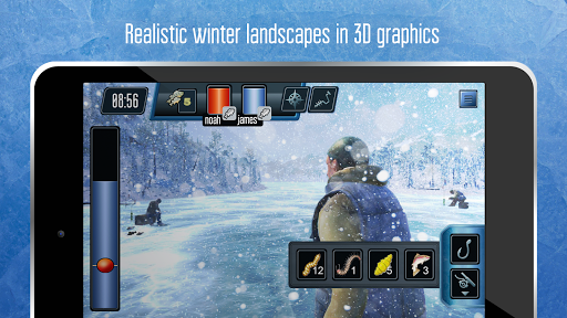 Ice fishing games for free. Fisherman simulator. screenshot 2