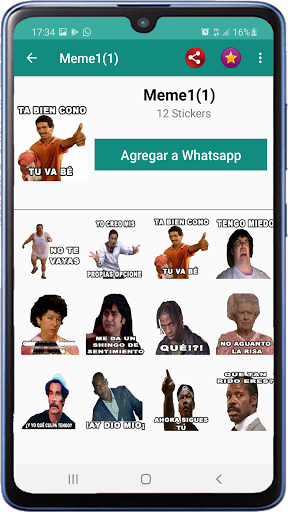 Memes with phrases Spanish Stickers WAStickerApps screenshot 7
