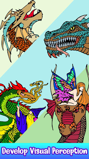 Dragons Color by Number screenshot 3